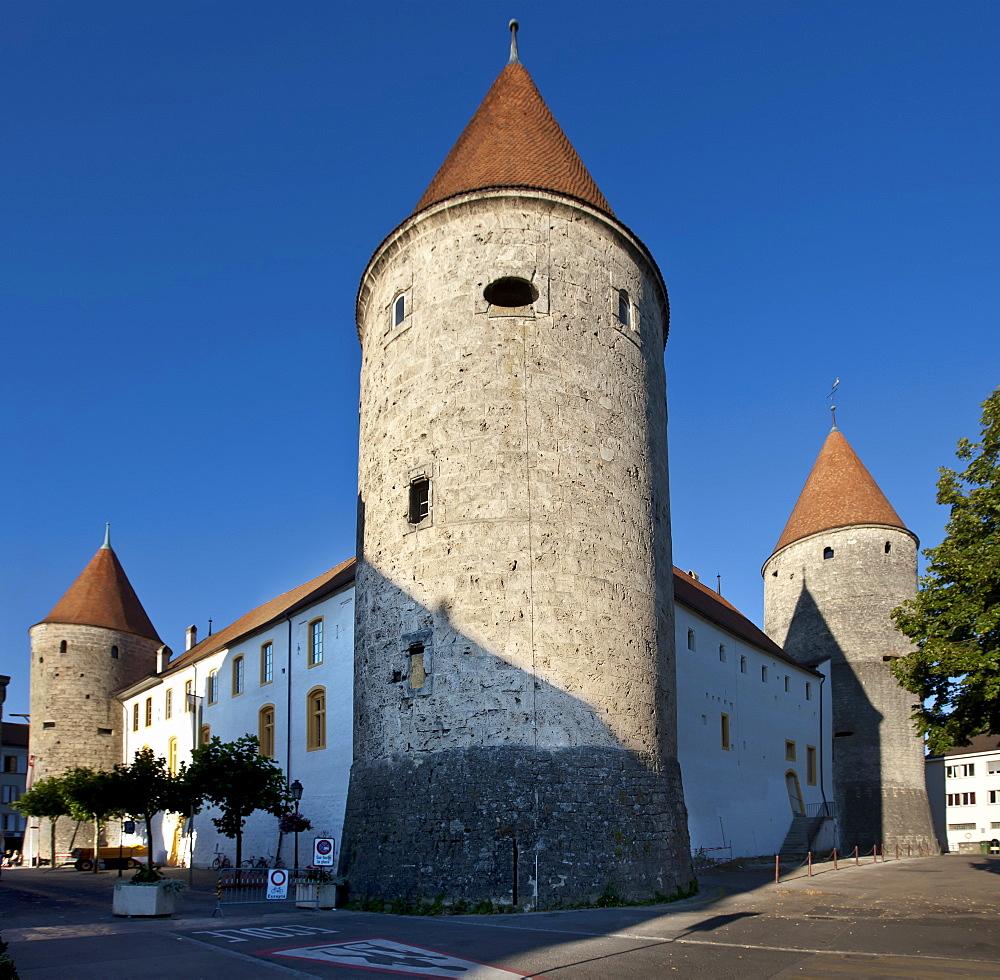 Grandson Castle in Grandson, Lake Neuch√¢tel, Canton Vaud, Switzerland, Europe