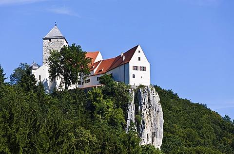 Burg Prunn castle, Riedenburg, Altmuehltal, Lower Bavaria, Bavaria, Germany, Europe