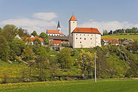 Trausnitz castle , Pfreimd river - Upper Palatinate Bavaria Germany