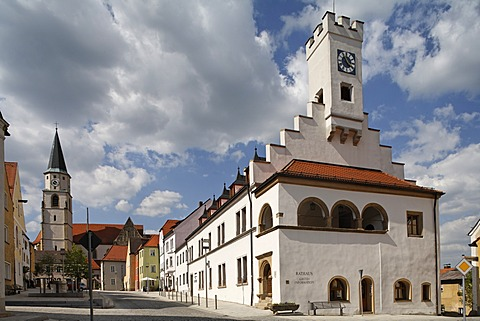 Nabburg , townhall , Upper Palatinate Bavaria Germany