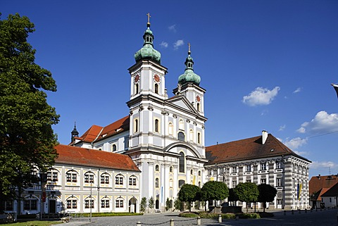 Monastery church St. John Waldsassen , Stiftland , Upper Palatinate , Bavaria Germany
