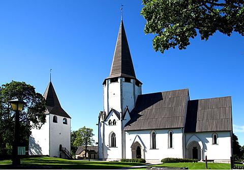Medieval fortified church, Fleringe, Gotland, Sweden