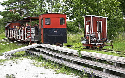 Museum railway in the industrial museum of Blaese, Gotland, Sweden