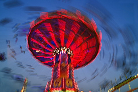 Swing carousel, Oktoberfest, Munich, Bavaria, Germany, Europe
