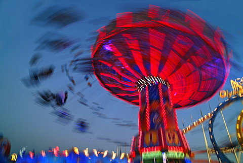 Chairoplane, Oktoberfest, Munich, Bavaria, Germany, Europe