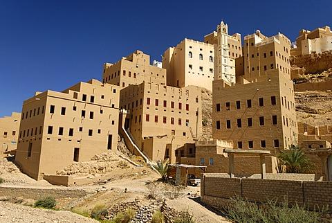 Old town of Al Hajjaryn, Wadi Doan, Hadramaut, Yemen