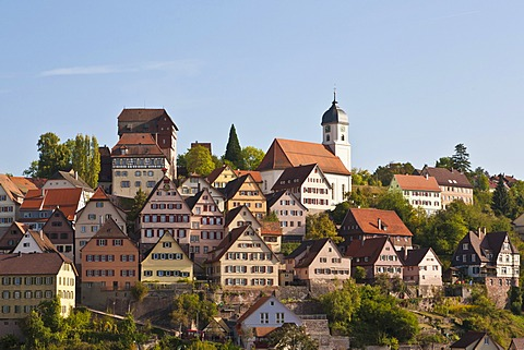 Old town of Altensteig, Black Forest, Baden-Wuerttemberg, Germany, Europe