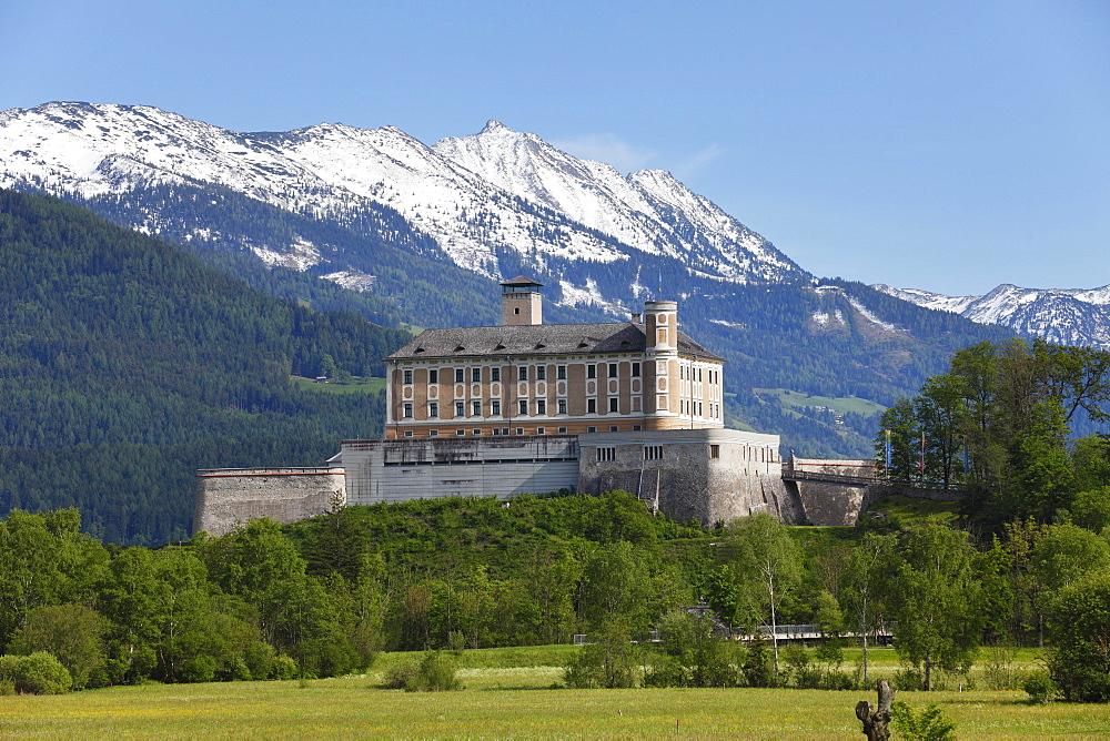 Schloss Trautenfels Castle, Ennstal valley, Upper Styria, Styria, Austria, Europe, PublicGround, Europe
