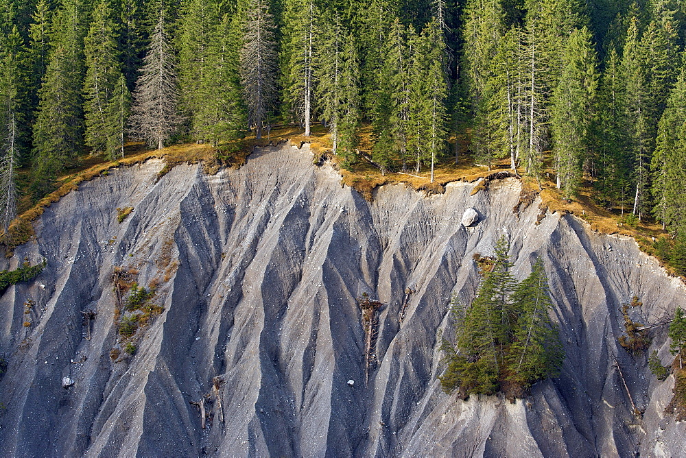 Slipped slope, landslide, erosion slope, Vorarlberg, Austria, Europe