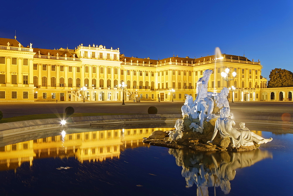 Fountain in front of Schonbrunn Palace, Vienna, Austria, Europe