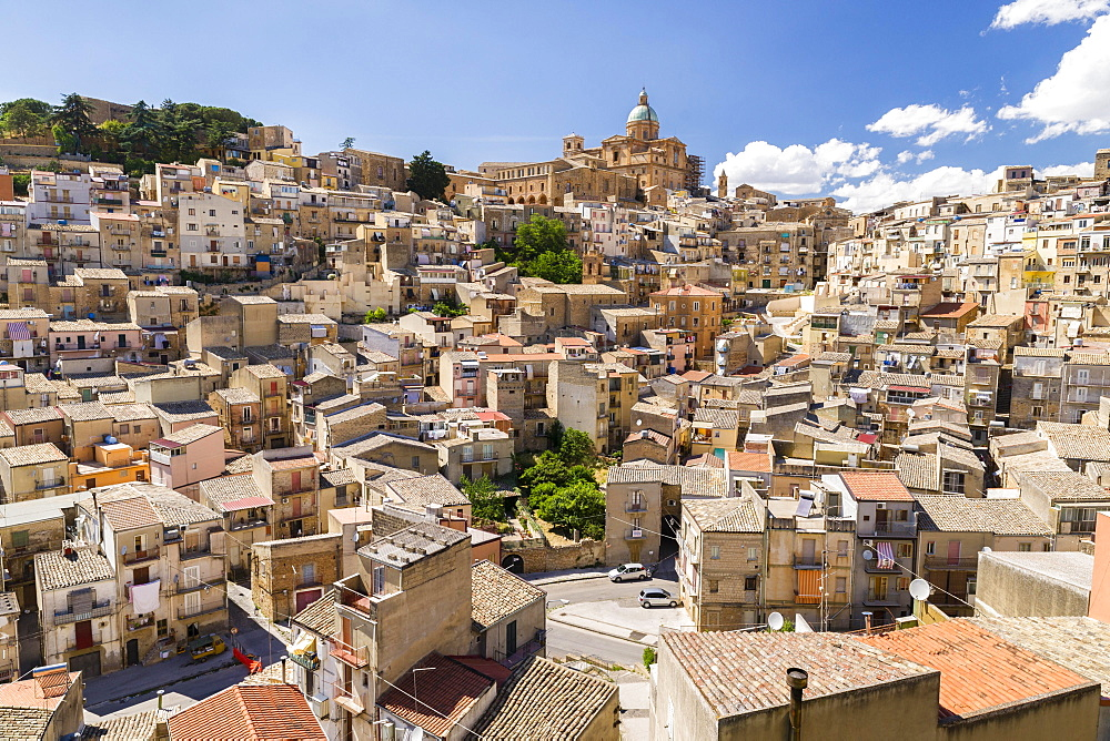 Cathedral SS. Assunta, Old Town, Piazza Armerina, Province of Enna, Sicily, Italy, Europe