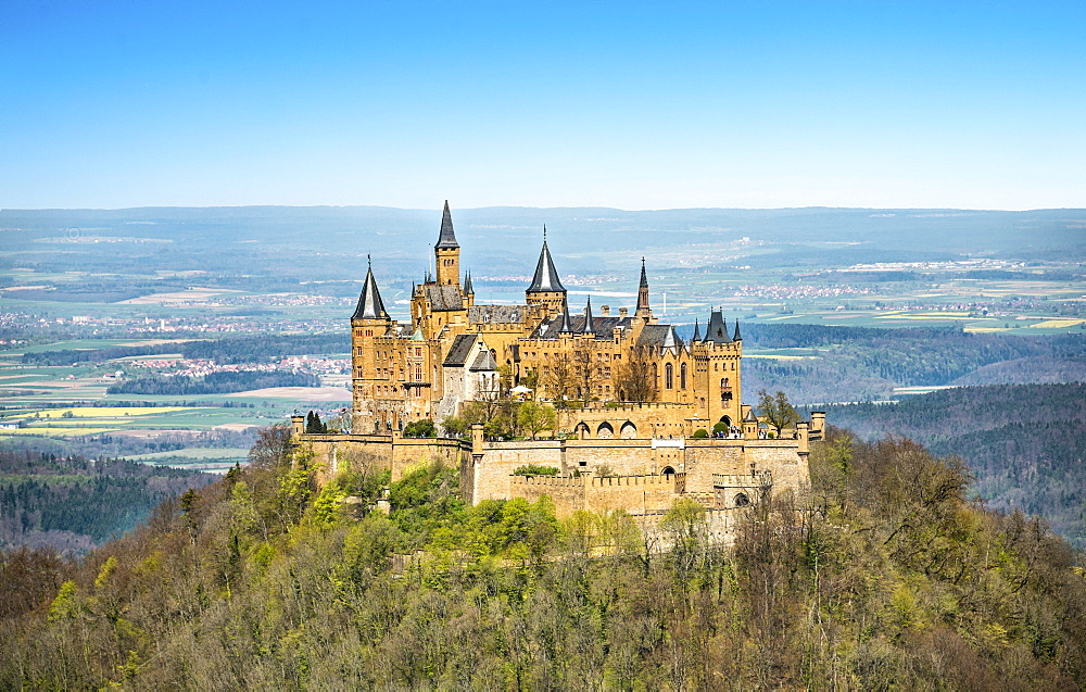 Hohenzollern Castle, Zollernalbkreis, Swabian Jura, Baden-Wurttemberg, Germany, Europe
