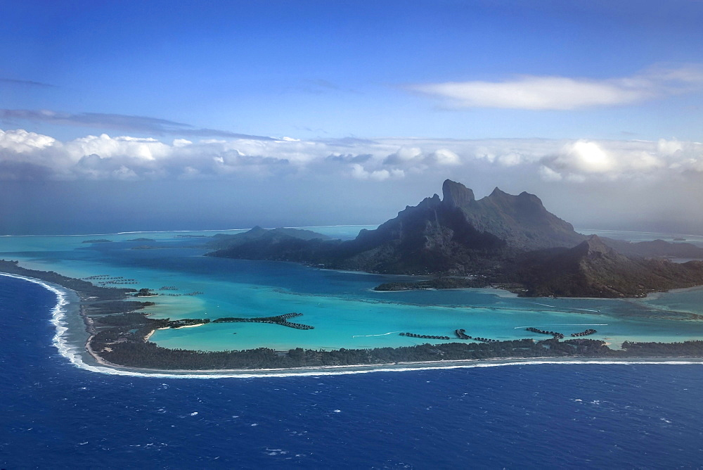 Aerial view, Bora Bora Bora Island, Society Islands, French Polynesia, Oceania - 832-379188