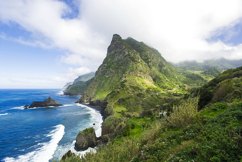 Viewpoint of Boaventura on the north coast of Madeira Island, Portugal, Europe