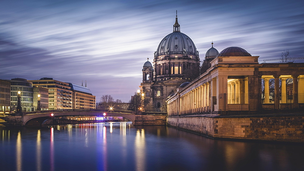 Dawn, Berlin Cathedral, Berlin, Germany, Europe