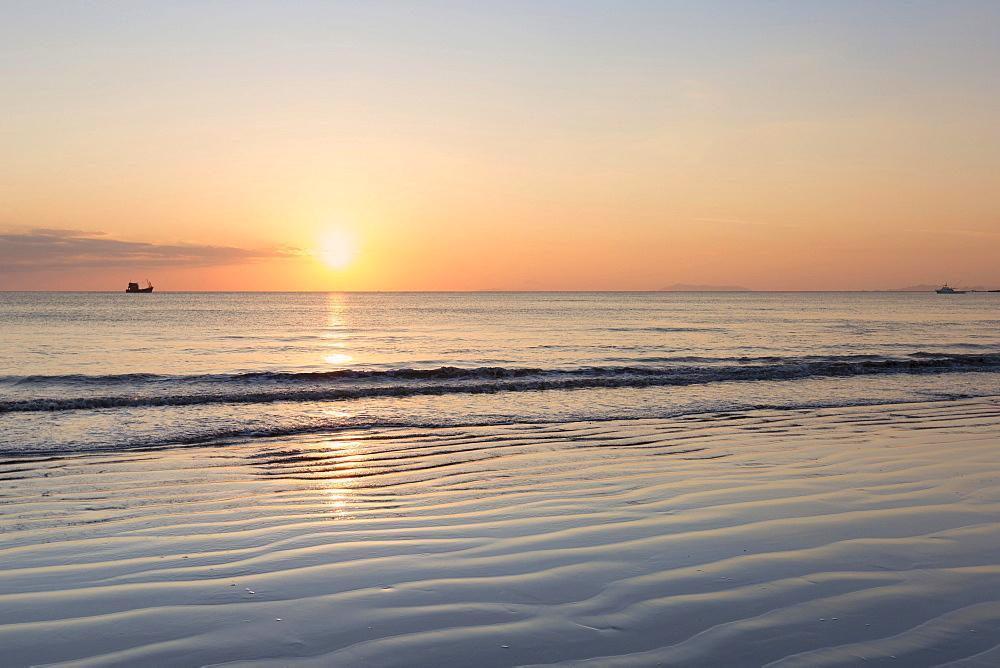 Sunset over Ao Yai beach, Ko Phayam island, Ranong province, Thailand, Asia