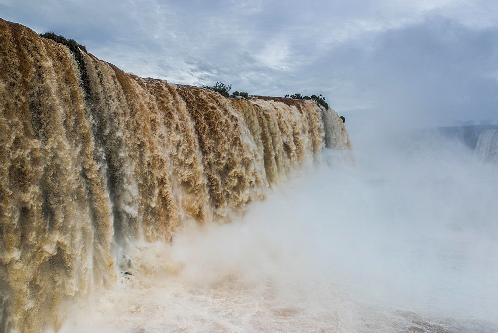 Iguazú Falls, Iguazú River, border between Brazil and Argentina, Foz do Iguaçu, Paraná, Brazil, South America