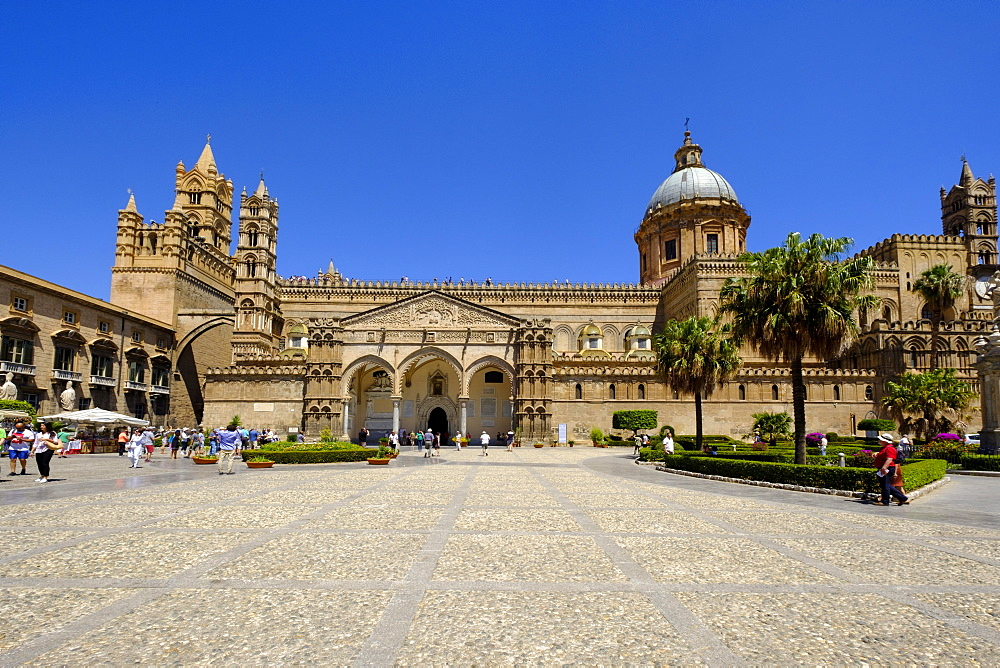 Cathedral of Palermo, Cattedrale Maria Santissima Assunta, Palermo, Sicily, Italy, Europe