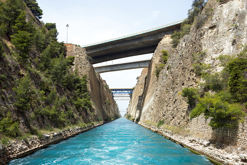 Corinth Canal, Peloponnese, Greece, Europe