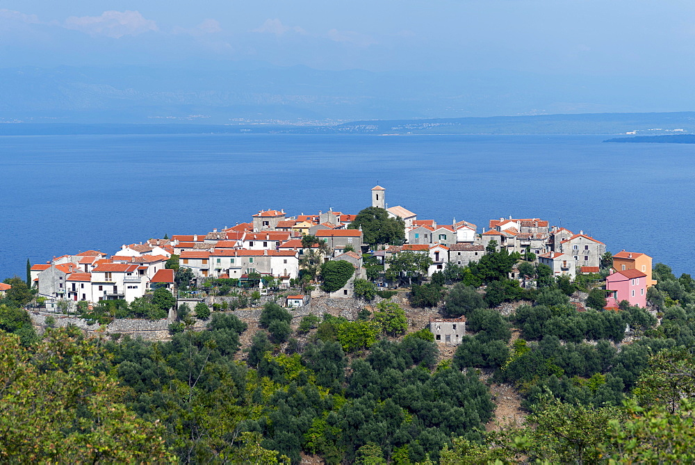 View of Beli, Cres Island, Kvarner Gulf Bay, Croatia, Europe