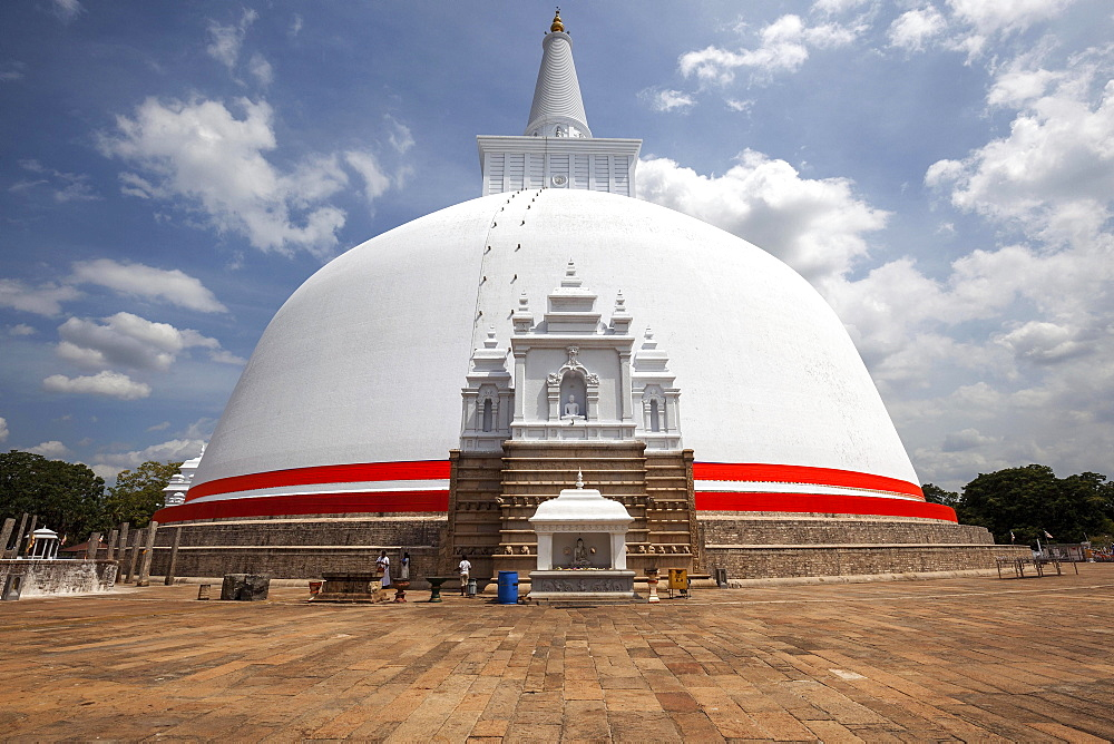 Ruwanwelisaya, Rathnamali Dagaba, Sacred City of Anuradhapura, North Central Province, Sri Lanka, Asia