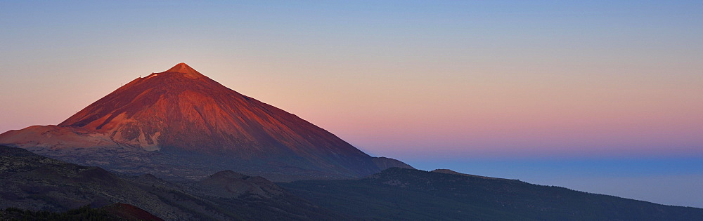 Mount Teide at sunrise, Teide National Park, Tenerife, Canary Islands, Spain, Europe