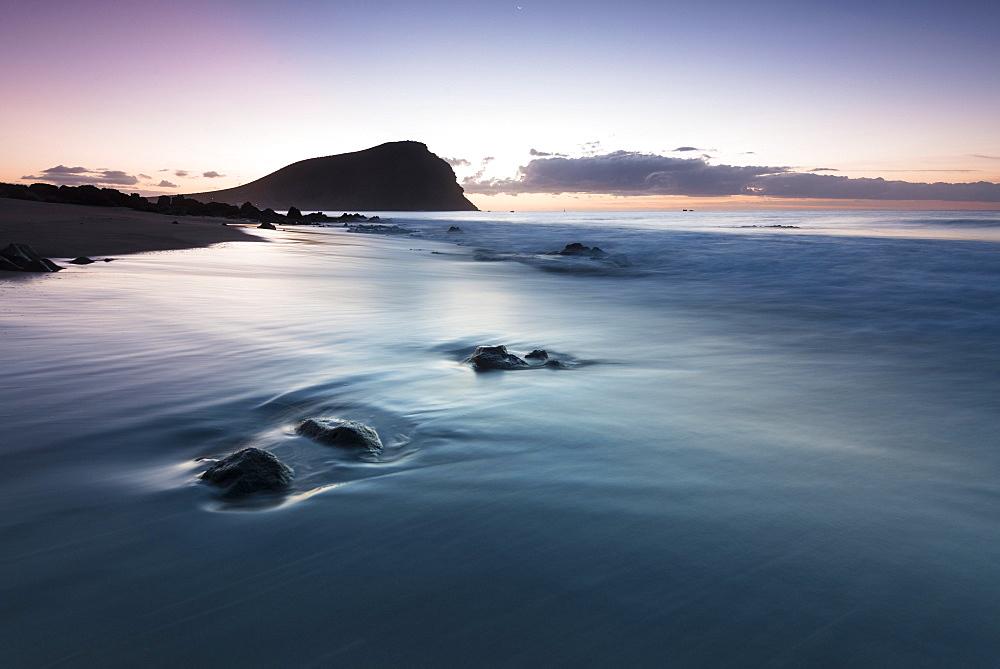 Beach, Playa de la Tejita, morning atmosphere, Tenerife, Canary Islands, Spain, Europe