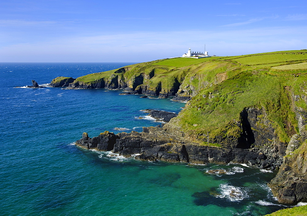 Lizard Lighthouse, Lizard Point, Lizard Peninsula, Cornwall, England, United Kingdom, Europe