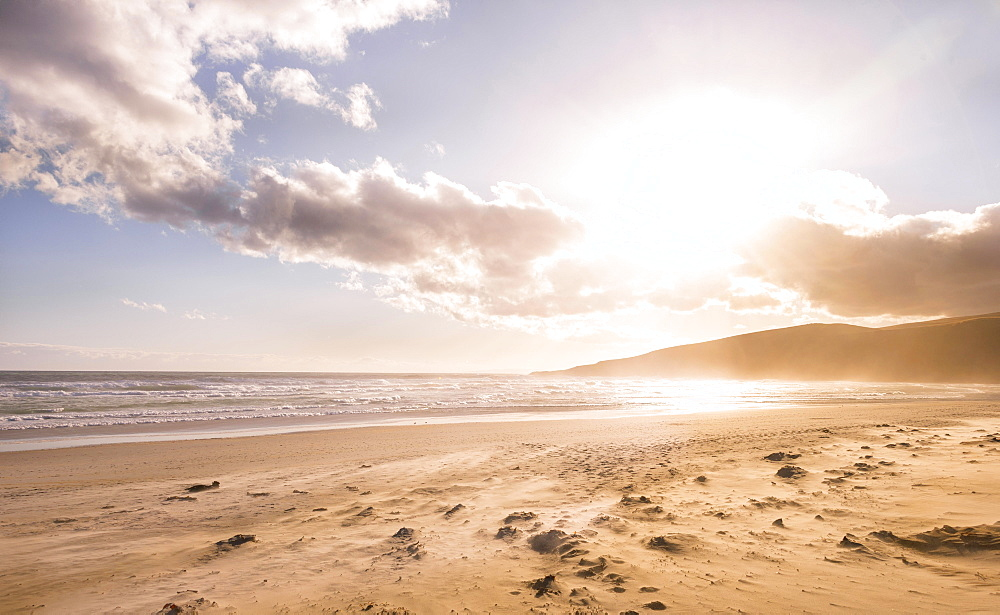 Sunset, Sandfly Bay, Dunedin, Otago Peninsula, Southland, New Zealand, Oceania