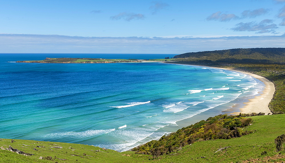 Lookout, Florence Hill Lookout, beach Tautuku Bay, The Catlins, Southland Region, Southland, New Zealand, Oceania