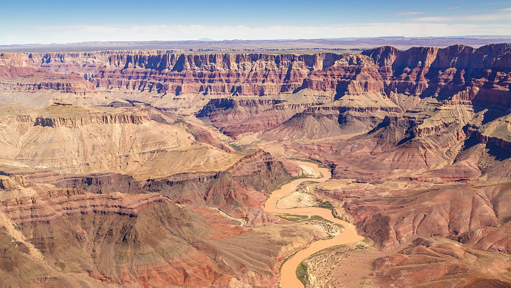 Landscape, panorama, rock, canyon, Colorado River, aerial view, South Rim, Grand Canyon National Park, Arizona, USA, North America