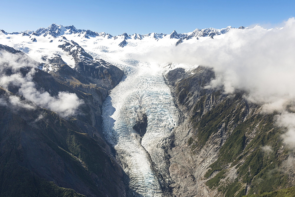 Franz Josef Glacier, Westland National Park, West Coast, Southland, New Zealand, Oceania