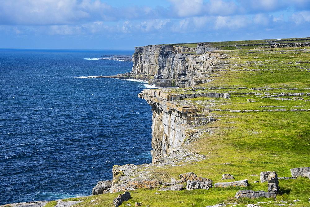 Rocky Cliffs of Árainn, Aran Islands, Ireland, Europe