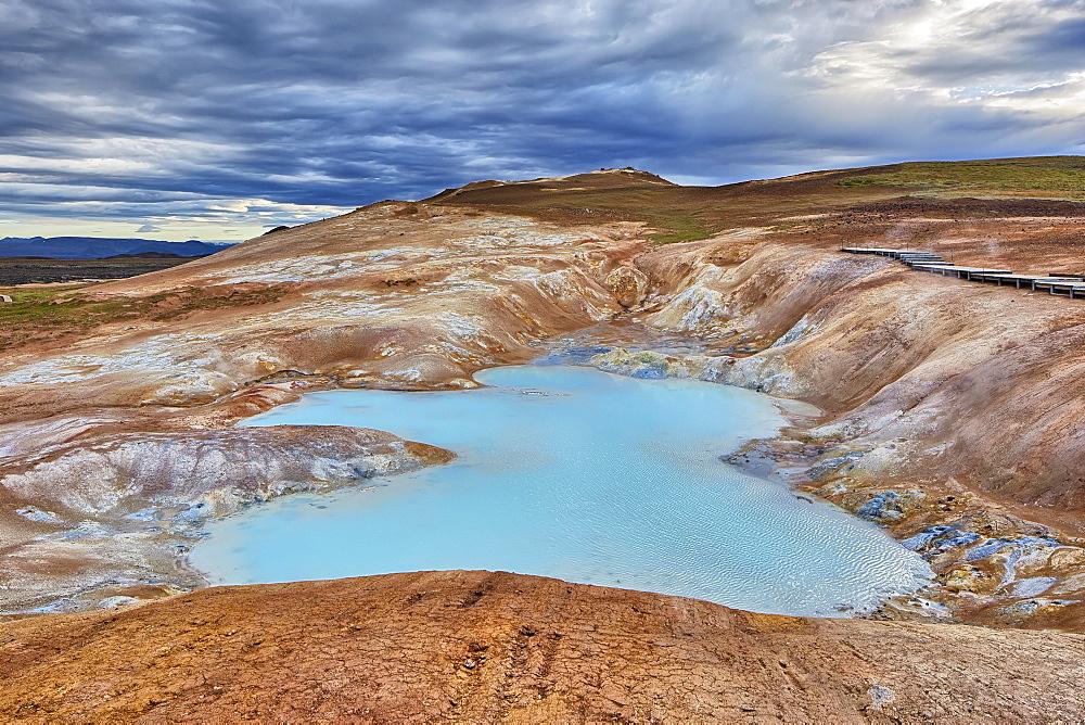 Krafla volcanic area, sulfur springs, Leirhnjúkur, Reykjahlíð, Mývatni, Island