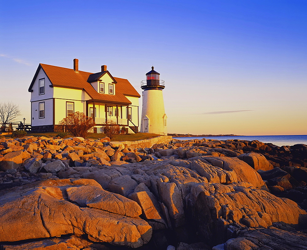 Prospect Harbor Point Light, Gouldsboro, Maine, New England, USA, North America