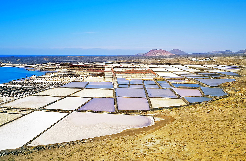 Salt lakes, Lanzarote, Canary Islands, Spain, Europe