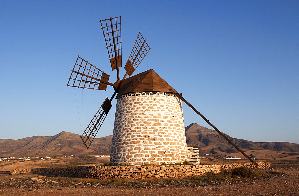 Old windmill at Tefia, Fuerteventura, Canary Islands, Spain, Europe
