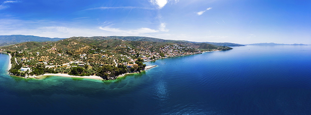 Townsmall Afissos, Volos region, Strait of Trikeri, Greek peninsula of Pelion, Papasite Gulf, Greece, Europe