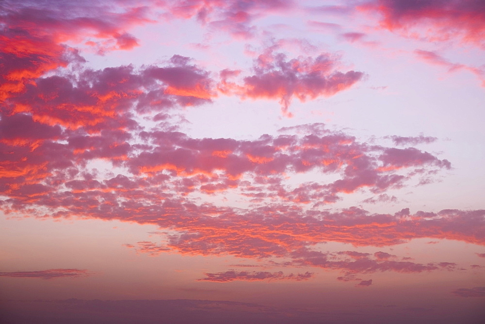 Cloudy sky at sunset, La Gomera, Canary Islands, Spain, Europe