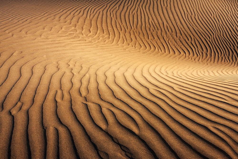Dunes of Maspalomas, Dunas de Maspalomas, structures in the sand, nature reserve, Gran Canaria, Canary Islands, Spain, Europe