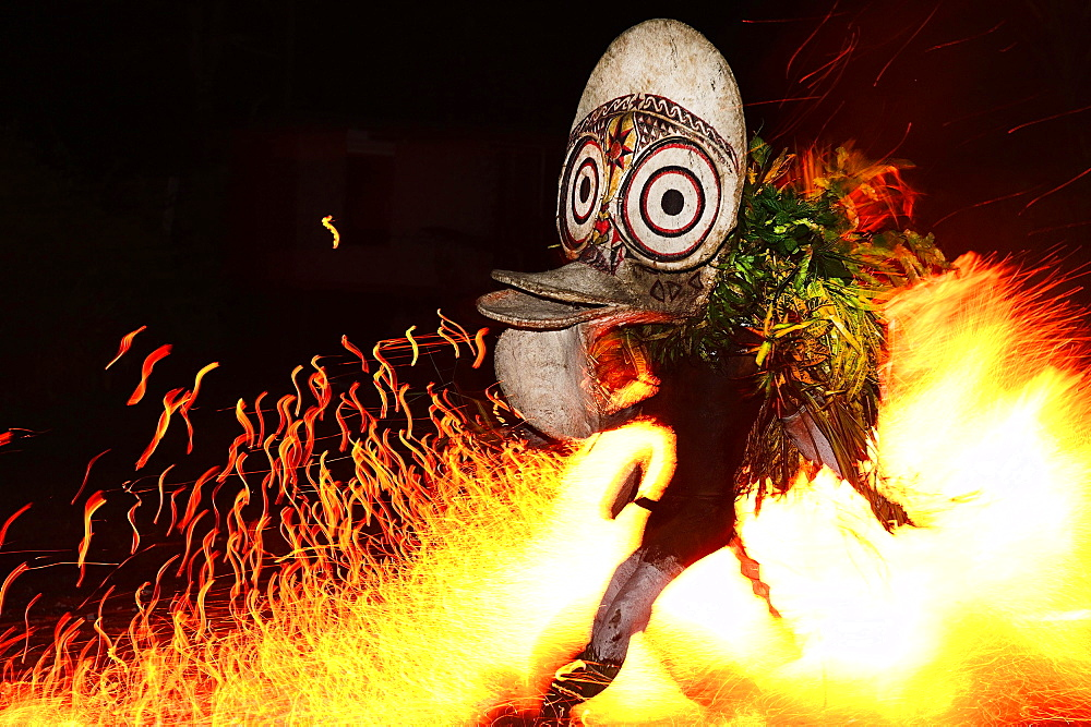 Baining Fire Dance, Kokopo, Rabaul, East New Britain, Papua New Guinea, Oceania