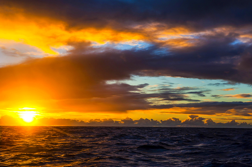 Sunrise over Tau Island, Manua Islands, American Samoa, Oceania