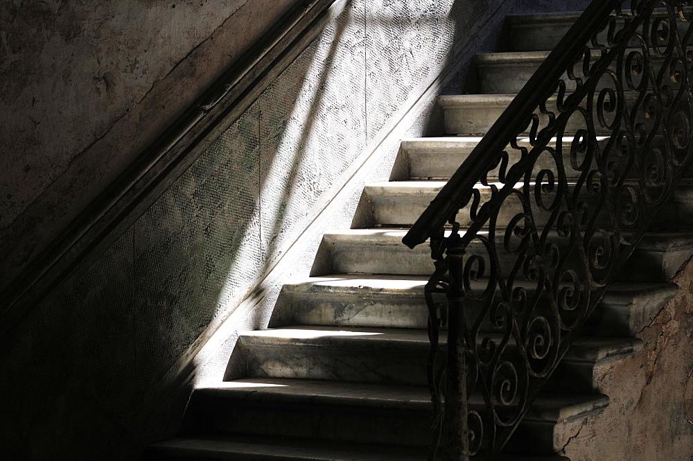 Stairs, stairway, historic centre, Havana, Ciudad de La Habana, Cuba, Central America