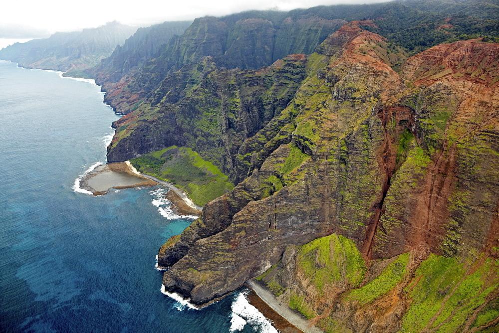 Na Pali Coast, Na Pali Coast State Park, Kauai, Hawaii, USA, North America
