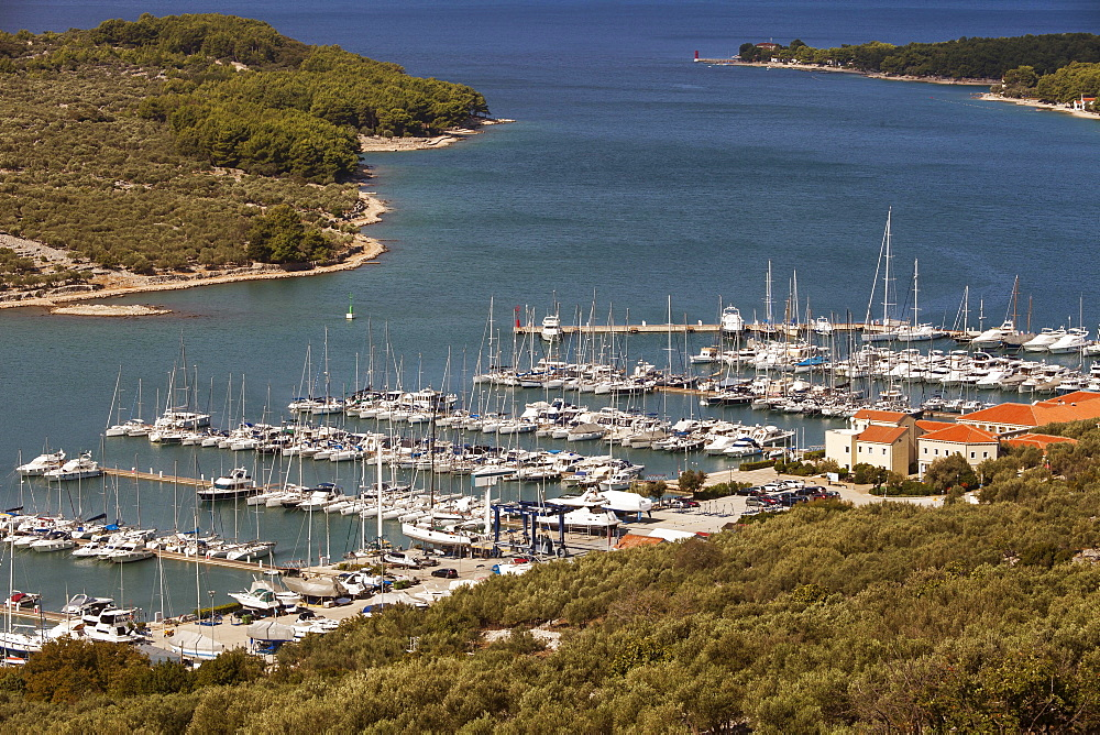 Marina of the city of Cres, Cres island, Croatia, Kvarner Gulf, Adriatic, Croatia, Europe