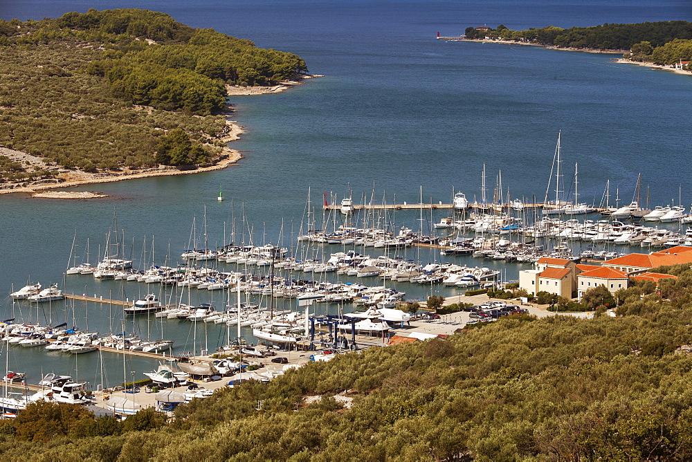 Marina of the city of Cres, Cres island, Croatia, Kvarner Gulf, Adriatic, Croatia, Europe