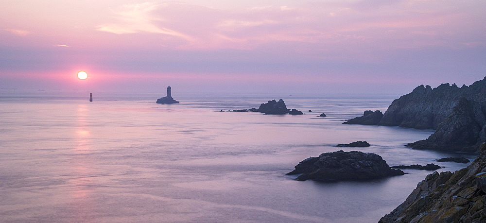 Sunset at Cape Pointe du Raz, Finistere, Brittany, France, Europe