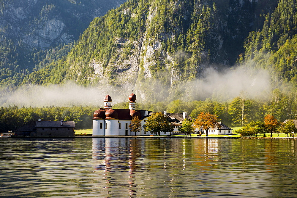 St Bartholomew's, Königssee, Berchtesgaden National Park, Berchtesgadener Land, Upper Bavaria, Bavaria, Germany, Europe