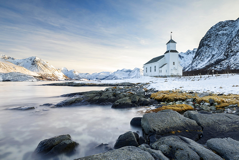 Gimsoy Church, Lofoten, Norway, Europe