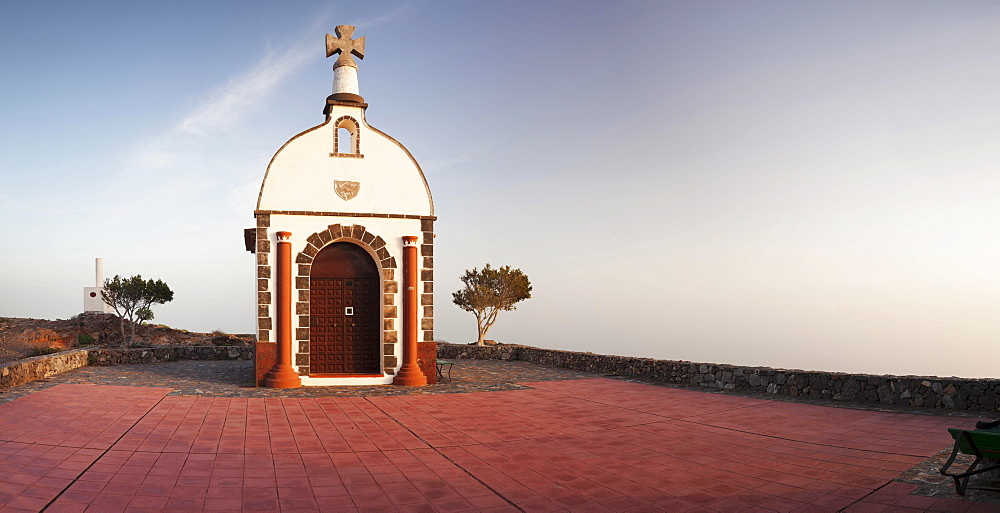 Ermita de San Isidro chapel on Roque Calvario peak, Alajero, La Gomera, Canary Islands, Spain, Europe